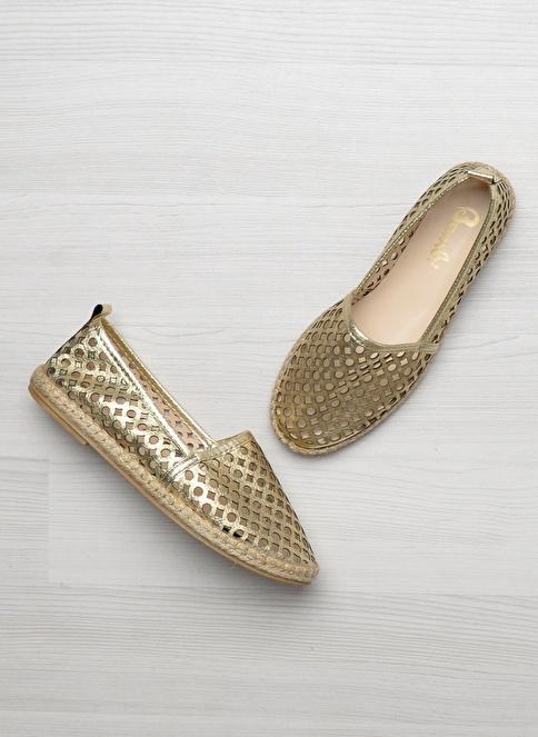 Bambi D0136900009 Altın Rengi Kadın Ayakkabı